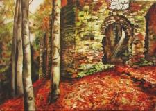Kaple Máří Magdaleny, Blaník (50x70)